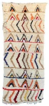 "Vintage Azilal Moroccan Berber Rug, 3'4"" x 7'8"" feet"