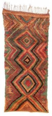"Vintage Azilal Moroccan Berber Rug, 3'3"" x 7'4"" feet"