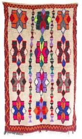 "Vintage Azilal Moroccan Berber Rug, 3'10"" x 6'7"" feet"