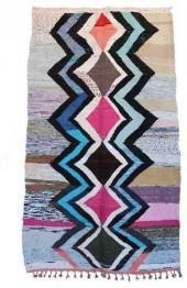 "Moroccan Kilim Boucherouite, 4'3"" x 7'9"" feet"