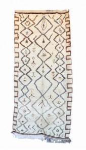 "Vintage Azilal Moroccan Berber Rug, 4'6"" x 9'9"" feet"
