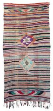 "Moroccan Kilim Boucherouite, 4'6"" x 9'5"" feet"