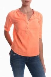 Maison Scotch 3/4 Length Sleeve Henley Orange