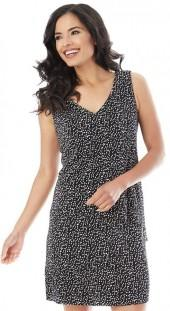 Women's AB Studio Polka-Dot Shift Dress