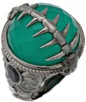 Stephen Webster 925 Sterling Silver Jewels Verne Green Crystal Haze Fish Skeleton Ring Size 8