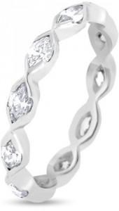 14K White Gold & 1.00ct Diamond Eternity Band Ring Size 6