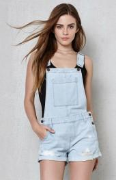 PacSun Salty Denim Shortalls