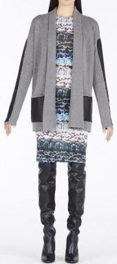BCBGMAXAZRIA Katriney Faux-Leather Blocked Cardigan
