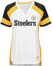 Majestic Women's Pittsburgh Steelers NFL Draft Me Lace T-Shirt