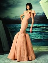 MNM Couture - Embroidered Scoop Neck Mermaid Dress G0815