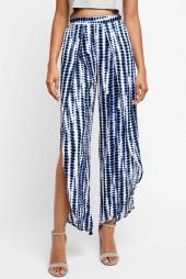 Abbeline Blue Printed Wrap Pants