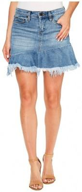Blank NYC - Denim Ruffle Mini Skirt in Fancy That Women's Skirt