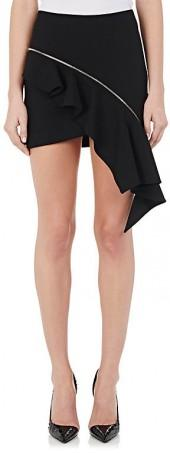 Saint Laurent SAINT LAURENT WOMEN'S CASCADING VIRGIN WOOL MINISKIRT