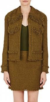 Nina Ricci NINA RICCI WOMEN'S TWEED BUTTON-FRONT JACKET