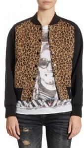 R13 Combo Leopard Regular-Fit Cotton Jacket