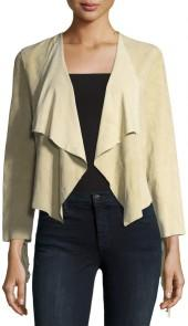 French Connection Honey Suede Fringed Jacket