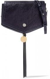 Jimmy Choo - Arrow Textured-leather Shoulder Bag - Navy