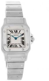 Cartier Santos Galbee W20056D6 Small Steel Silver Dial Quartz Watch