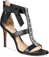 Jewel Badgley Mischka Henderson Strappy Bow Evening Sandals Women's Shoes