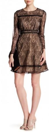 CeCe by Cynthia Steffe Lauren Lace & Contrast Lining Dress