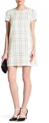 CeCe by Cynthia Steffe Kayte Plaid Tweed Dress
