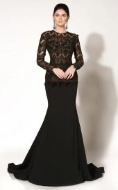 MNM Couture - 2186 Laced Jewel Neck Mermaid Dress