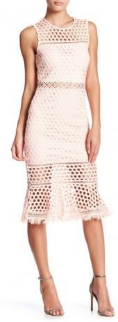 Just Me Circle Lace Mermaid Midi Dress