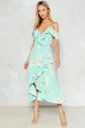 nastygal Point Me at the Sky Floral Dress