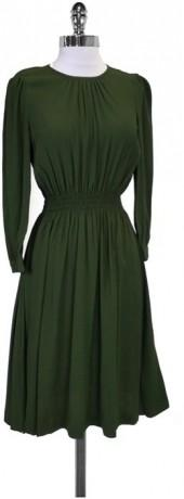 Kate Spade Olive Green Zari Dress