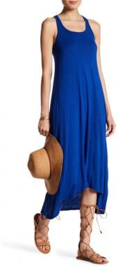 Go Couture Solid Racerback Maxi Dress
