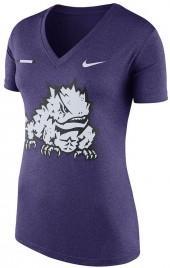 Women's Nike TCU Horned Frogs Striped Bar Tee