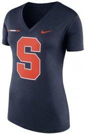 Women's Nike Syracuse Orange Striped Bar Tee