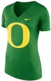 Women's Nike Oregon Ducks Striped Bar Tee