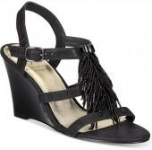 Adrianna Papell Adair Fringe Wedge Evening Sandals Women's Shoes