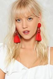 nastygal Shake It Off Tassel Earrings