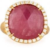 Marco Bicego Siviglia Medium 18k Pink Sapphire Ring, Size 7