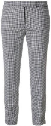 Thom Browne LOWRISE SKINNY TROUSER WITH FRAY IN HOPSACK CHECK WOOL SUITING