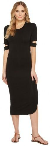 Culture Phit Quinn Luxe French Terry Midi Dress with Sleeve Cut Outs
