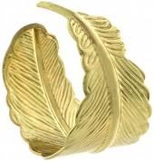 Goldtone Leaf Curl Ring