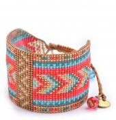Mishky Rays & Rays Patterned Wide Beaded Bracelet Set