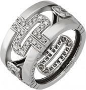 BVLGARI Estate Parentesi 18k Pave Diamond Band Ring, 0.96tcw, Size 6