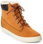 timberland Faux Fur Wheat Flat Boots