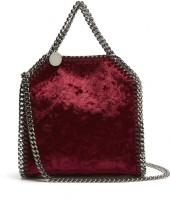 STELLA MCCARTNEY Tiny Falabella velvet cross-body bag