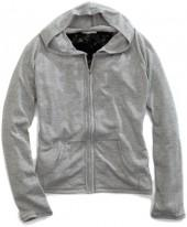 Gray & Black Zip-Up Hoodie - Women