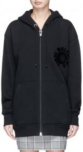 Alexander Wang Furwari artwork velvet flock oversized hoodie