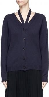 Victoria Beckham Halterneck wool cardigan