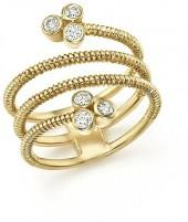 Bloomingdale's Diamond Multi Row Ring in 14K Yellow Gold, .25 ct. t.w. - 100% Exclusive
