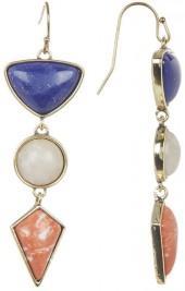 Jessica Simpson Stone Triple Drop Earrings