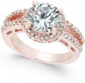 Charter Club Rose Gold-Tone Crystal Ring, Created for Macy's