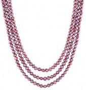 Splendid Pearls 5-6mm Burgundy Cultured Freshwater Endless Pearl Necklace